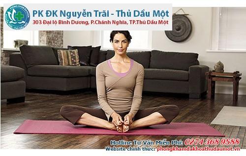 Bài tập Yoga hồ điệp: nhằm thúc đẩy tuần hoàn huyết dịch.