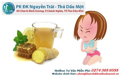 Bạn có thể sử dụng trà gừng, trà bạc hà để làm giảm đau bụng kinh