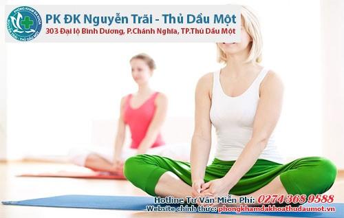Bài tập yoga nhẹ nhàng cũng là cách trị đau bụng kinh hiệu quả