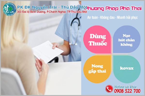 Phương pháp phá thai an toàn thường được sử dụng