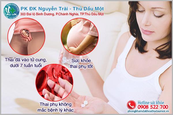 Điều kiện phá thai bằng thuốc chị em cần lưu ý