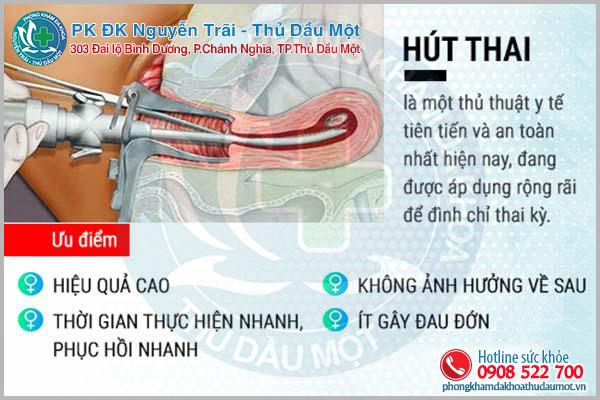 Hút thai 5 tuần an toàn không đau tại Phòng khám Đa khoa Thủ Dầu Một