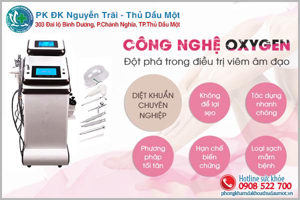 Chữa trị viêm âm đạo bằng công nghệ hiện đại Oxygen