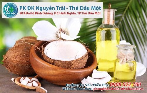 Tác dụng của dầu dừa trong điều trị bệnh huyết trắng